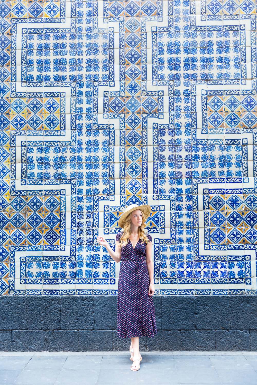 Mexico City Centro Historico Summer Outfit Pattern Wrap Dress_-3.jpg