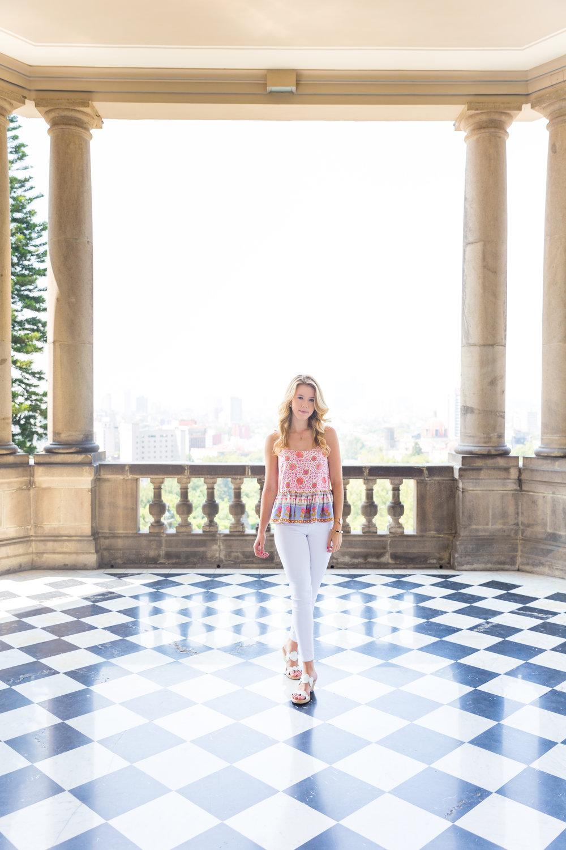 Mexico City Castillo de Chapultupec Summer Outfit White Jeans Peplum Cami-4.jpg