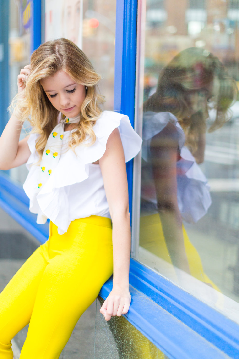 NYC Summer Yellow Lemon Print Outfit-14.jpg