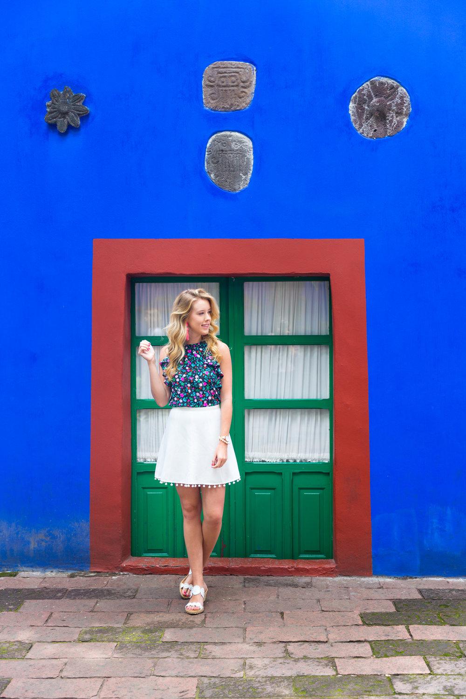 Mexico City Frida Kahlo La Casa Azul Floral Summer Outfit-2.jpg