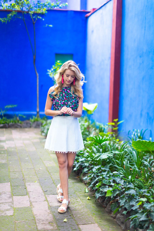 Mexico City Frida Kahlo La Casa Azul Floral Summer Outfit-4.jpg