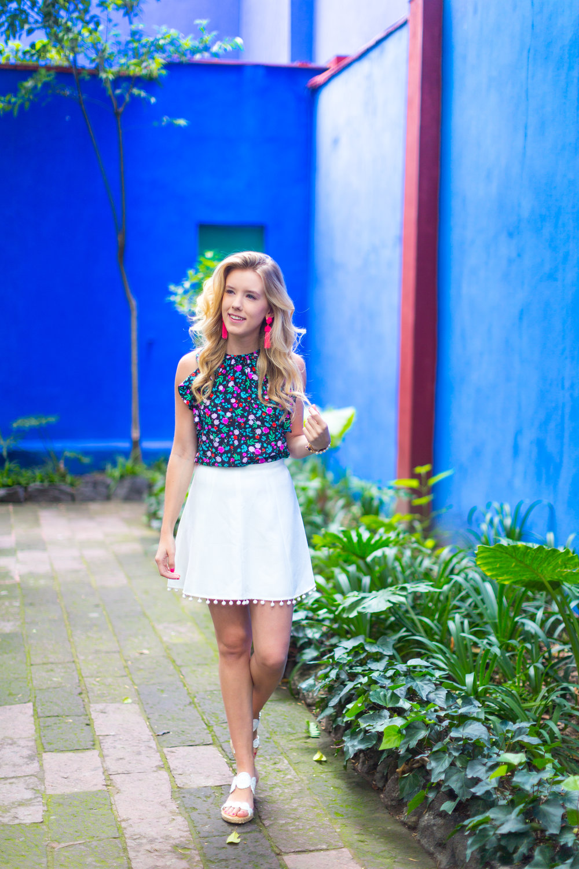 Mexico City Frida Kahlo La Casa Azul Floral Summer Outfit-5.jpg
