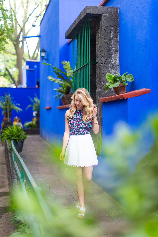 Mexico City Frida Kahlo La Casa Azul Floral Summer Outfit-8.jpg