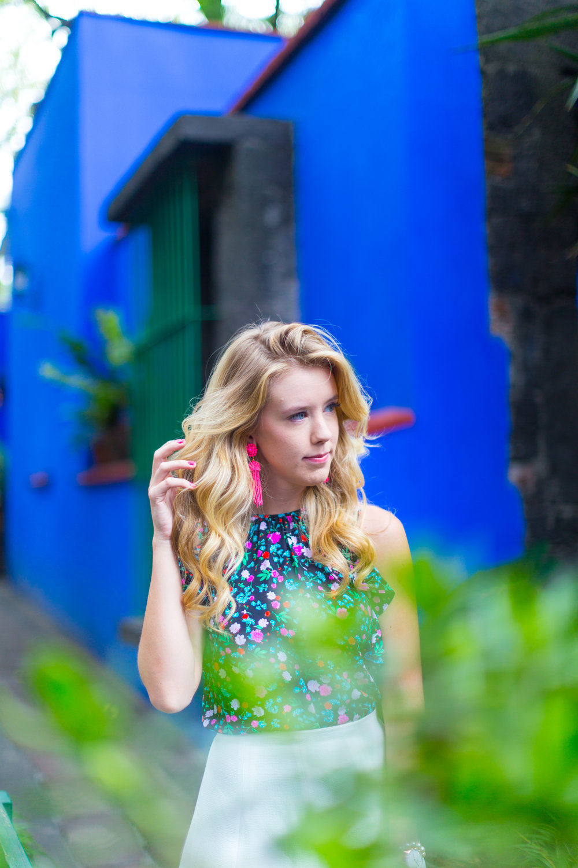 Mexico City Frida Kahlo La Casa Azul Floral Summer Outfit-9.jpg