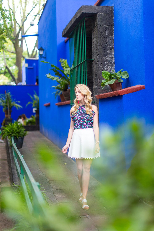 Mexico City Frida Kahlo La Casa Azul Floral Summer Outfit-10.jpg