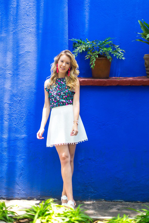 Mexico City Frida Kahlo La Casa Azul Floral Summer Outfit-13.jpg