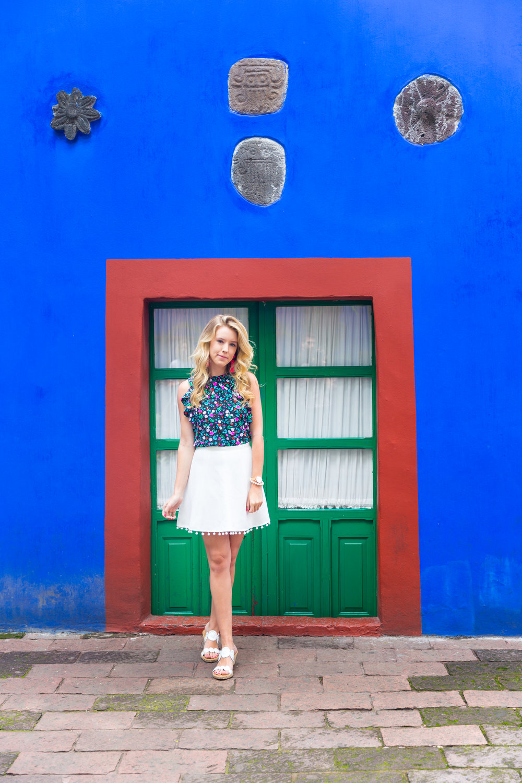 Mexico City Frida Kahlo La Casa Azul Floral Summer Outfit.jpg