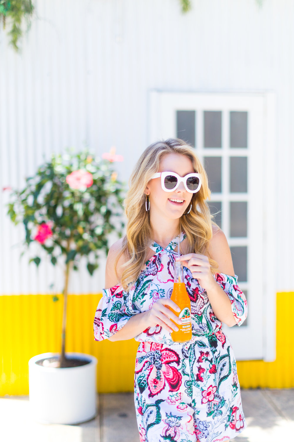 NYC Summer Outfit Floral Ruffled Romper-6.jpg