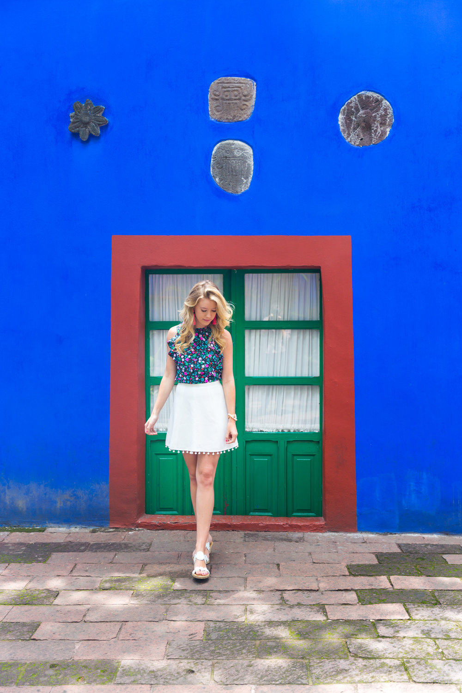 Mexico City Frida Kahlo La Casa Azul Floral Summer Outfit-3.jpg