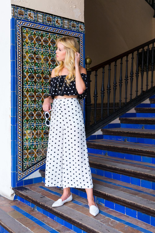 Sevilla Spain Summer Polka Dot Fashion Style-3.jpg