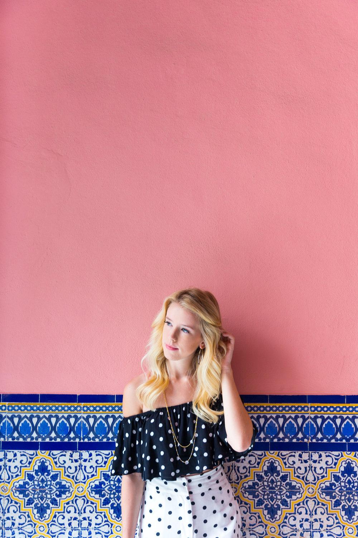 Sevilla Spain Summer Polka Dot Fashion Style-2.jpg