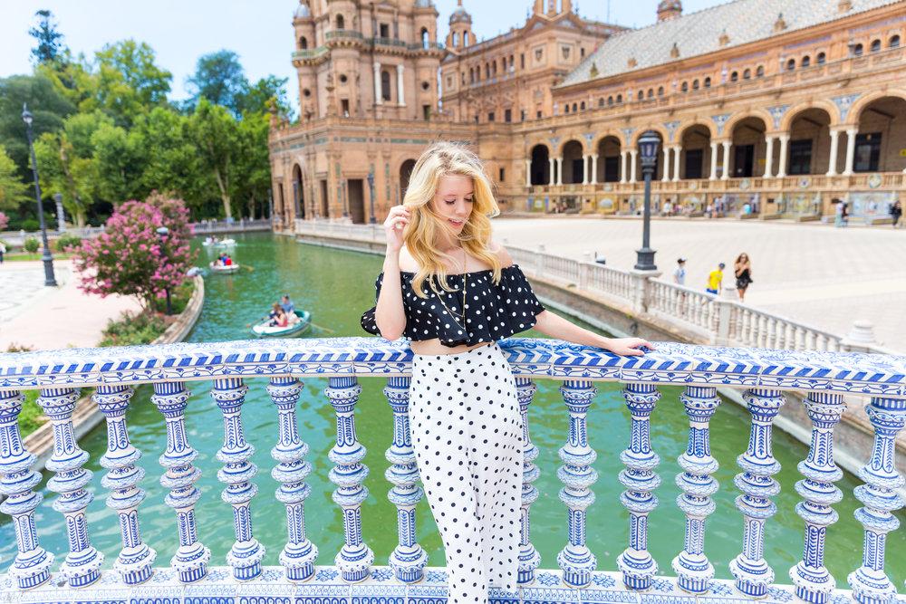 Sevilla Spain Summer Polka Dot Fashion Style-4.jpg
