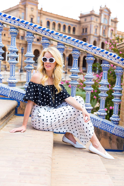 Sevilla Spain Summer Polka Dot Fashion Style-5.jpg