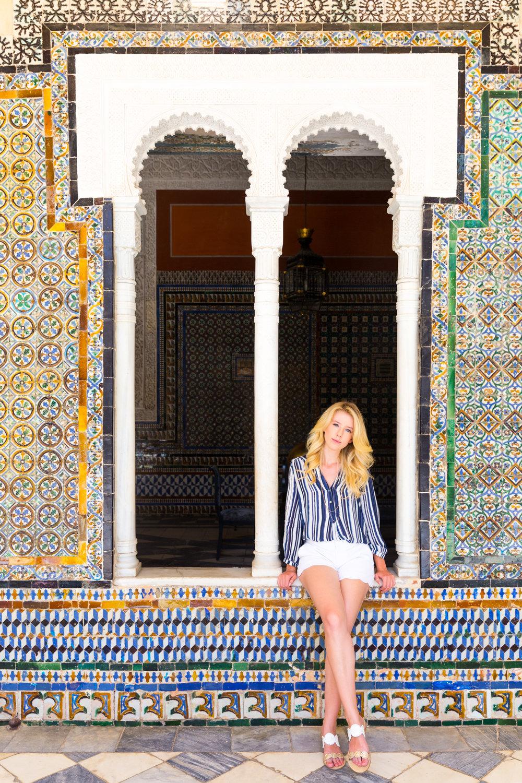 Sevilla Spain Summer Striped Blouse Fashion Style.jpg
