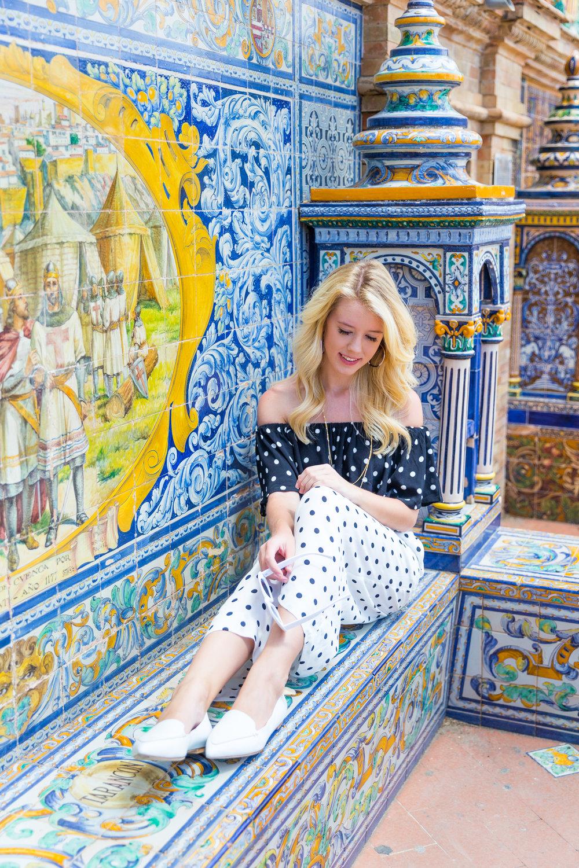 Sevilla Spain Summer Polka Dot Fashion Style-6.jpg