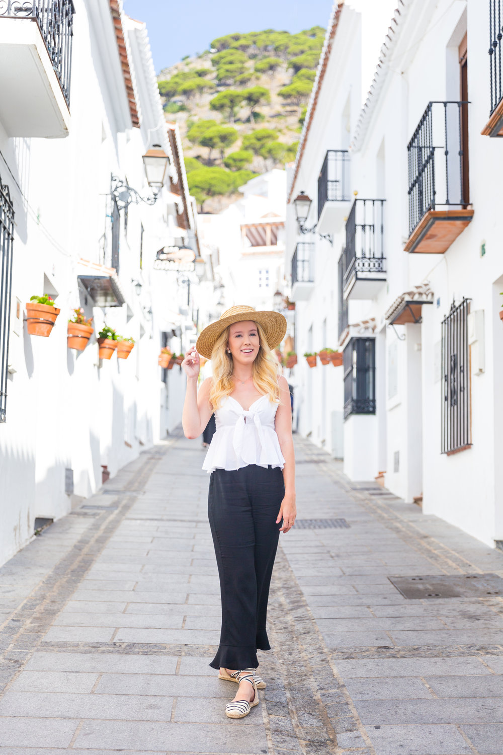 Spain Mijas Malaga Black and White Summer Fashion Flare-3.jpg