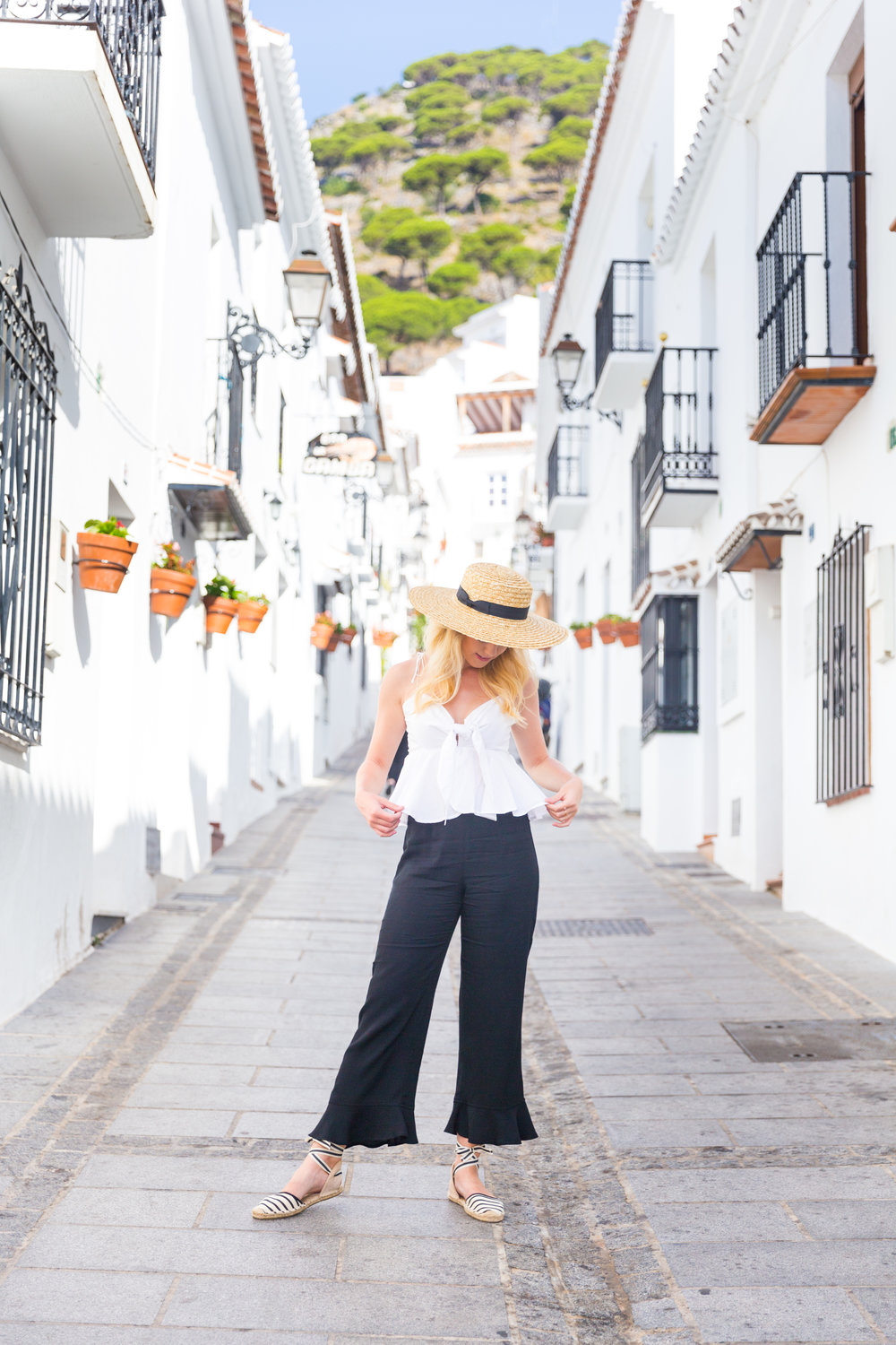 Spain Mijas Malaga Black and White Summer Fashion Flare-4.jpg