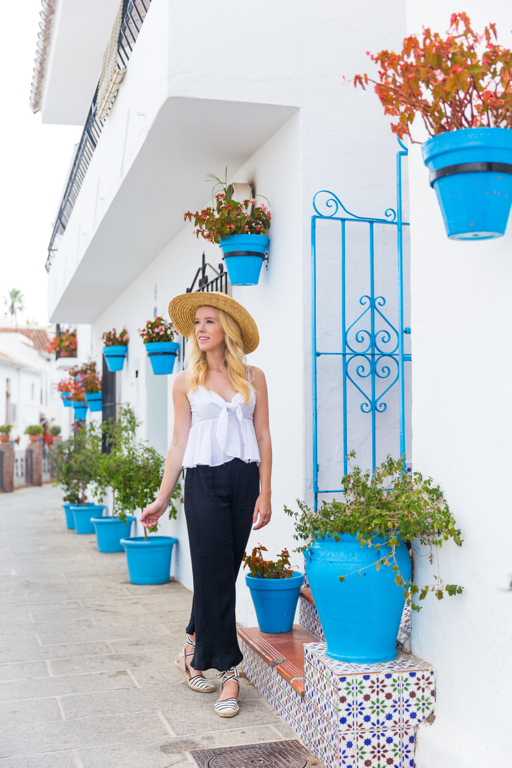 Spain Mijas Malaga Black and White Summer Fashion Flare.jpg