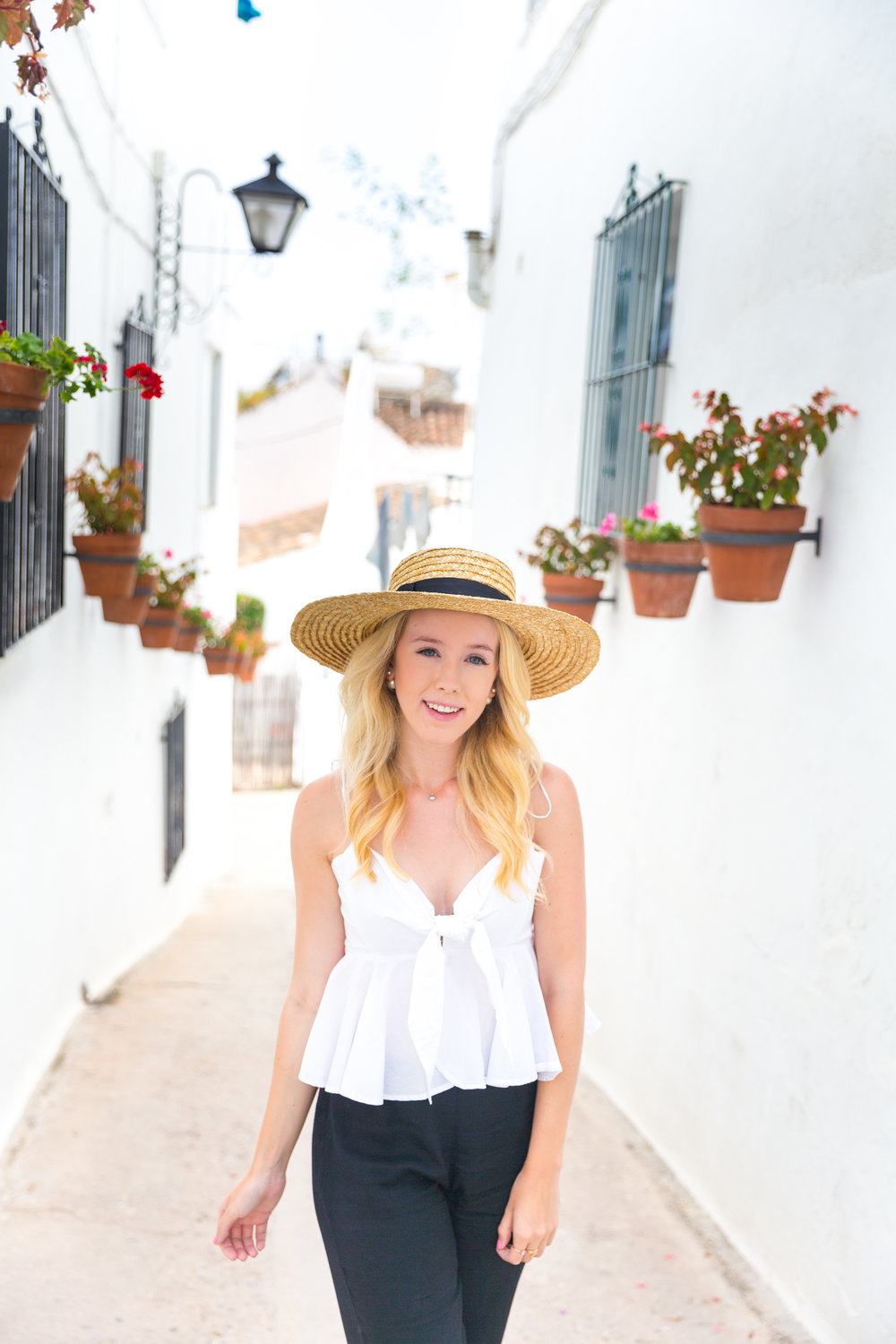 Spain Mijas Malaga Black and White Summer Fashion Flare-5.jpg