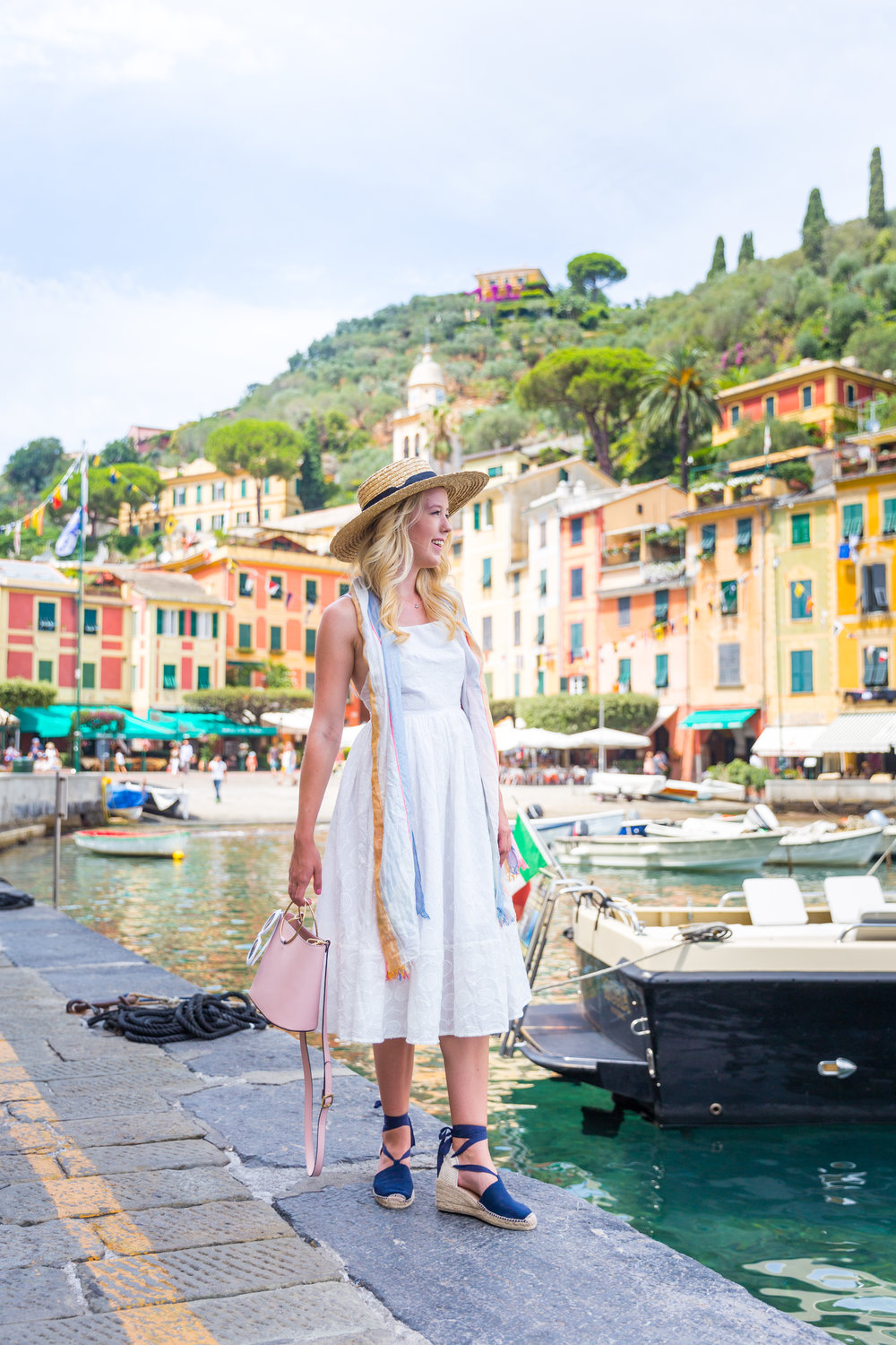 Italy Liguria Portofino Fashion White Sundress-3.jpg