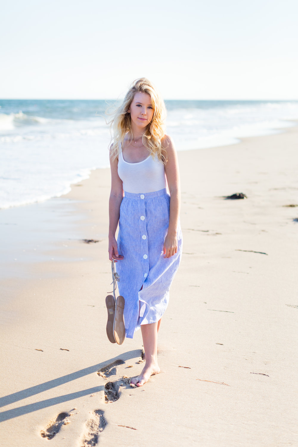 Summer Fashion Hamptons Beach Button Down Maxi Skirt-2.jpg