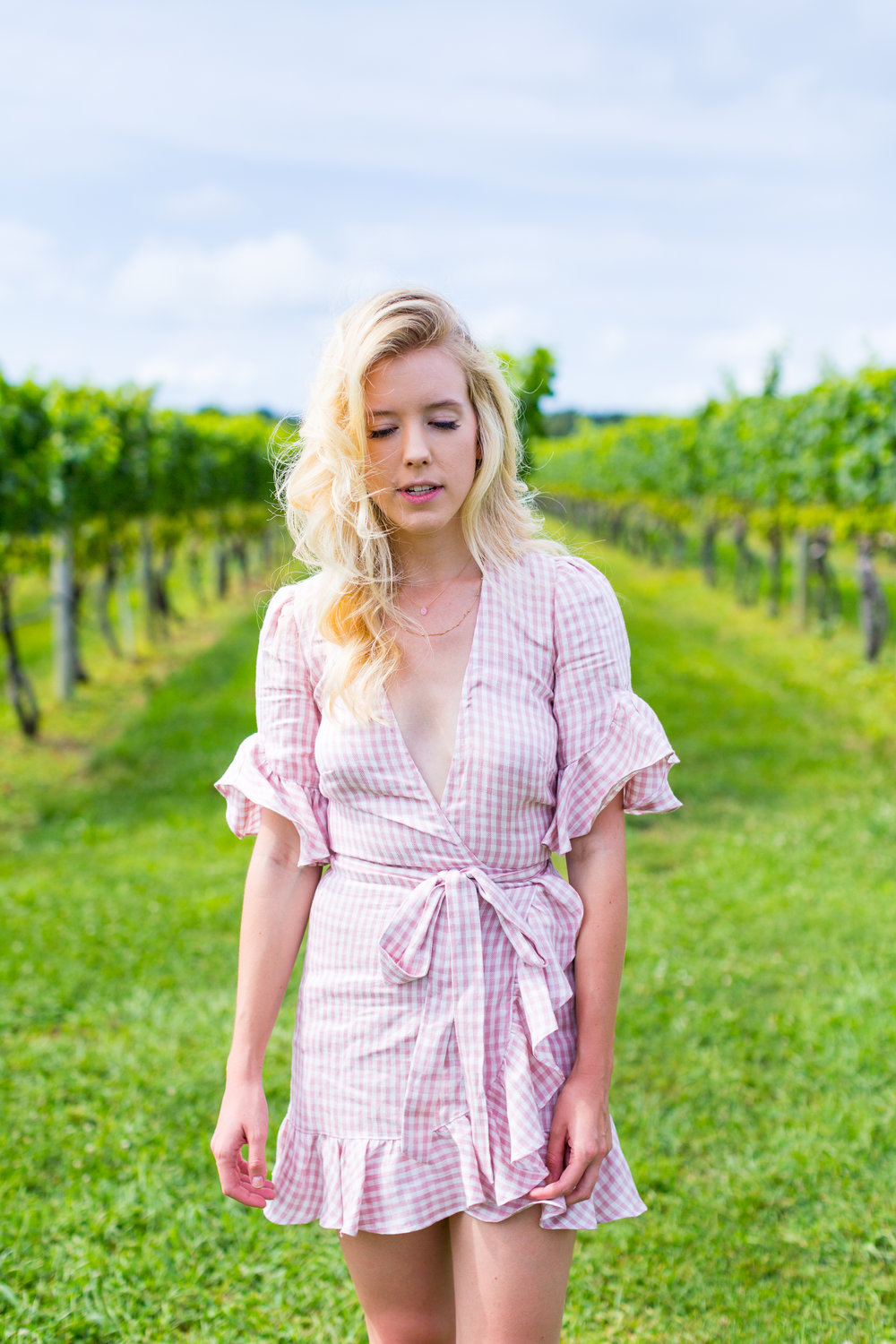 Summer Fashion Hamptons Event Pink Gingham Dress-2.jpg