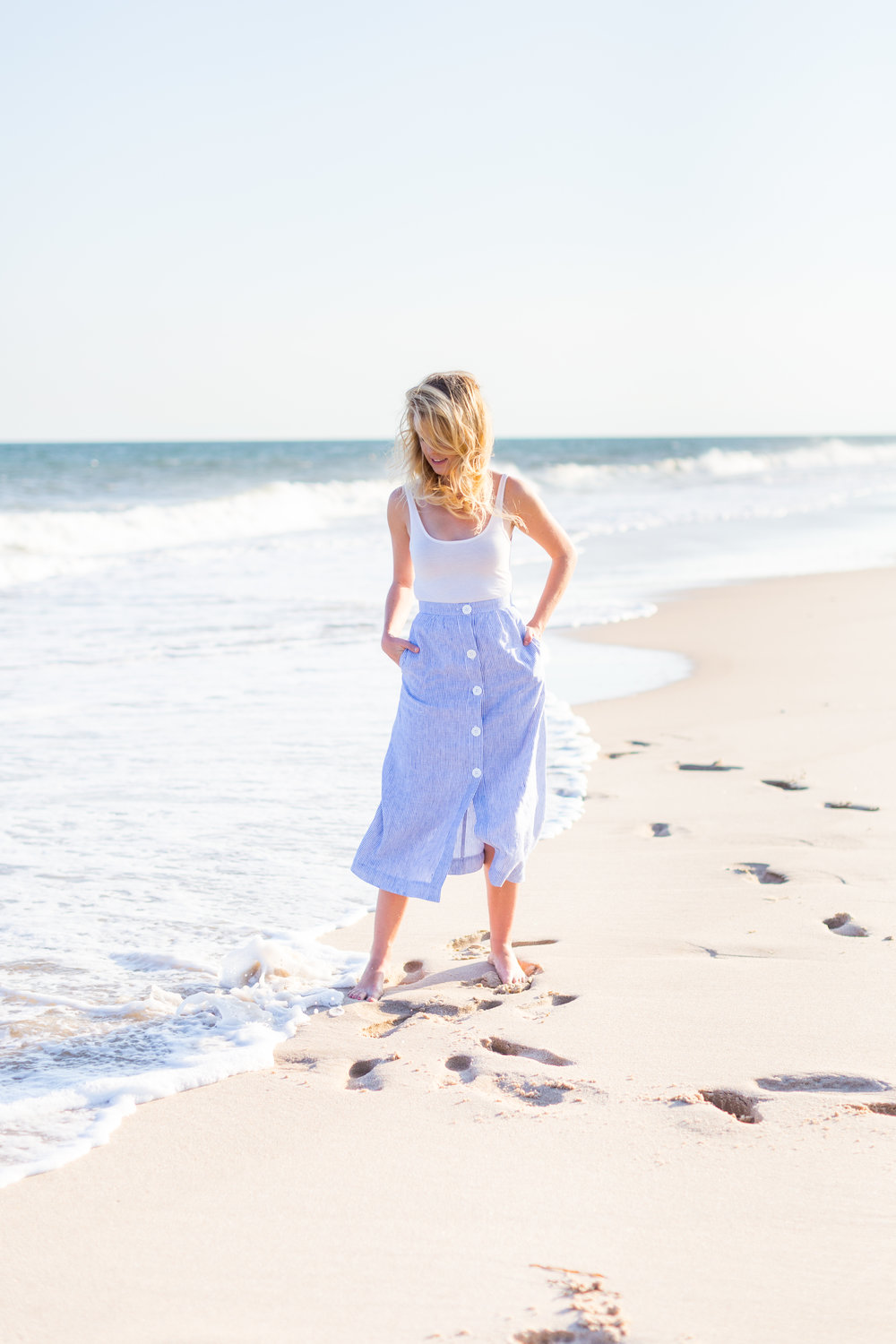 Summer Fashion Hamptons Beach Button Down Maxi Skirt-3.jpg