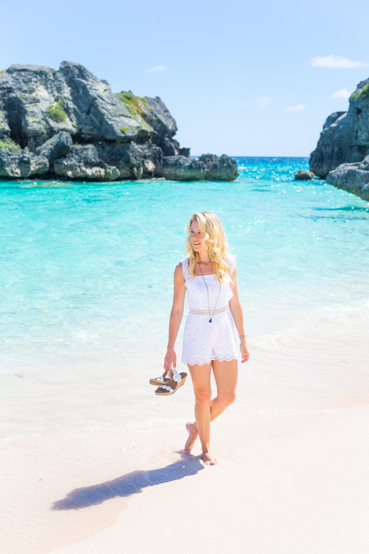 Summer Labor Day Fashion White Lace Romper Bermuda-4.jpg