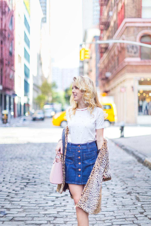 Fall Fashion Denim Mini Skirt and Pearl Embellished Top-3.jpg