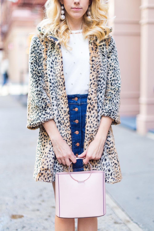 Fall Fashion Denim Mini Skirt and Pearl Embellished Top-6.jpg