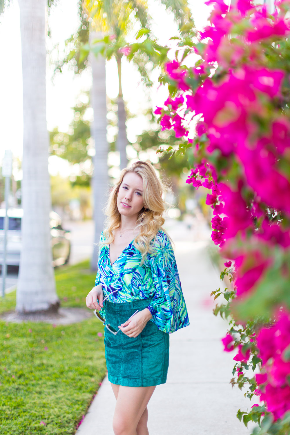 Preppy Fall Fashion Lilly Pulitzer Florida Green Skirt-2.jpg