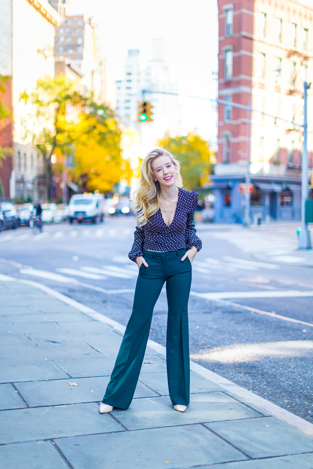 NYC Fall Fashion Trends Wrap Top Flare Pants-2.jpg
