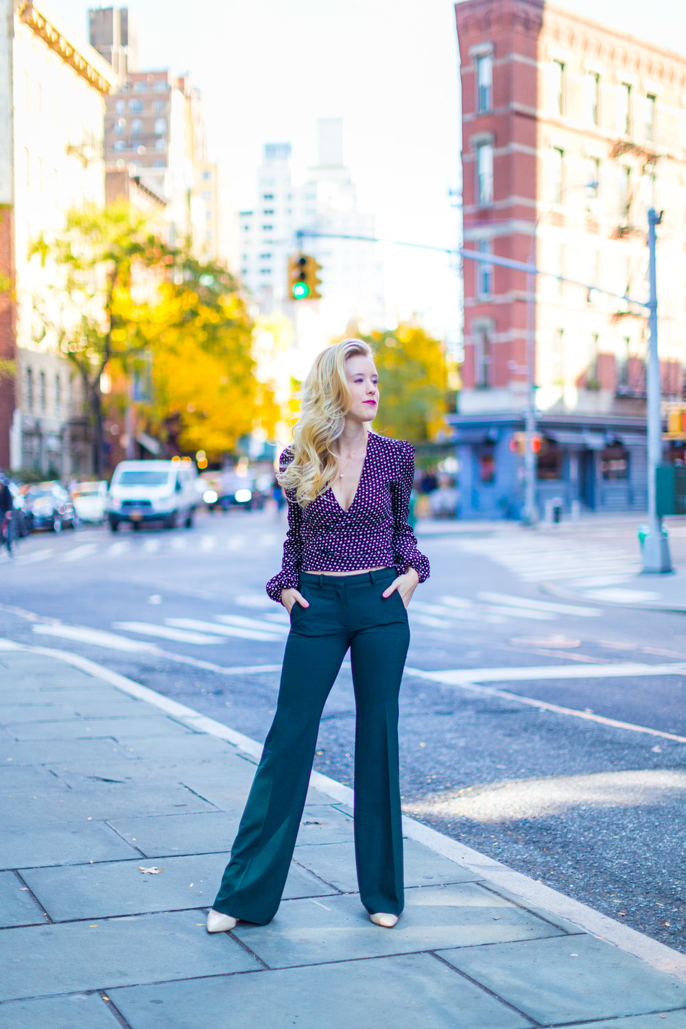 NYC Fall Fashion Trends Wrap Top Flare Pants-3.jpg