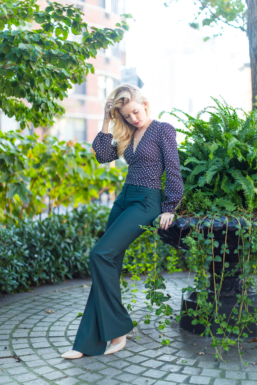 NYC Fall Fashion Trends Wrap Top Flare Pants-8.jpg