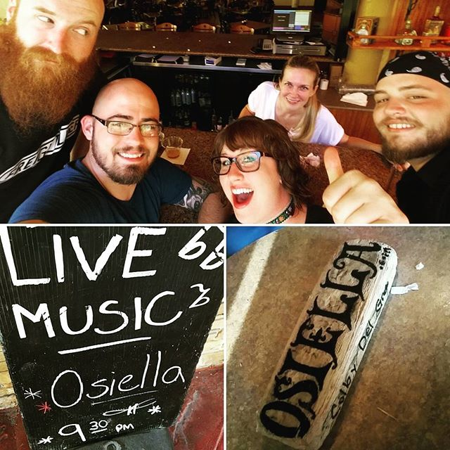 As always, had an amazing time at The Dive Bar in Fort Lauderdale! A big shout out as well to our main girl Jen at the Ramada!  She's the best!  Come see us tonight at the Dubliner in Boca Raton!  Show starts at 9:30!  #florida #tourlife #osiella #bestjobever #thedubliner #thedivebar #boca #soflo #live #love