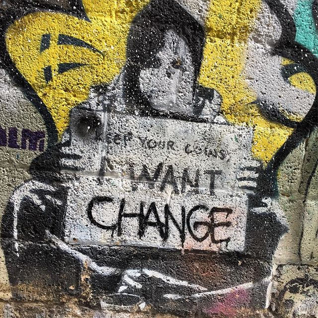 Keep your coins I want change #graffiti #melbourne #streetart #laneway #urbanseed #homeless