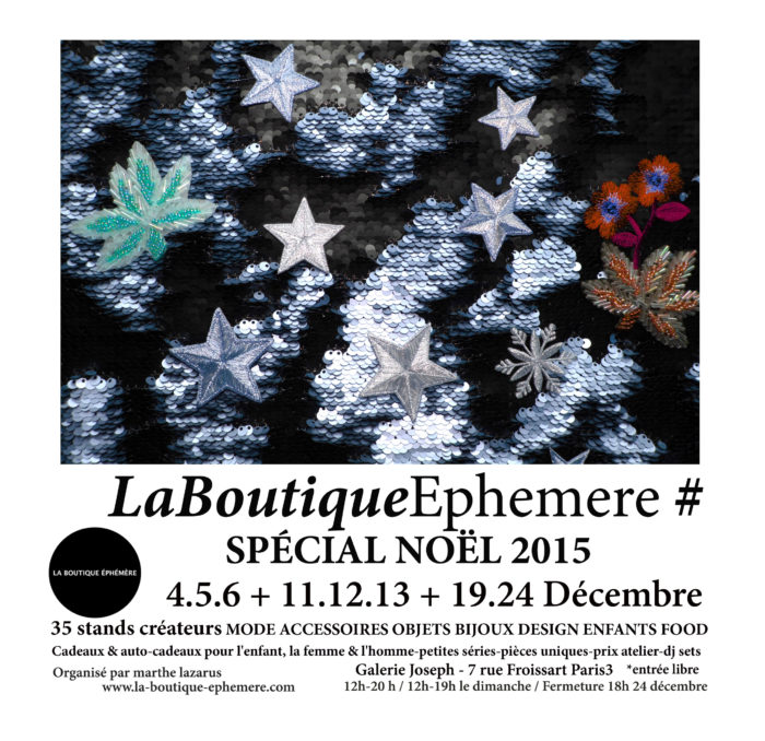 NOEL POP UP LA BOUTIQUE ÉPHÉMÈRE