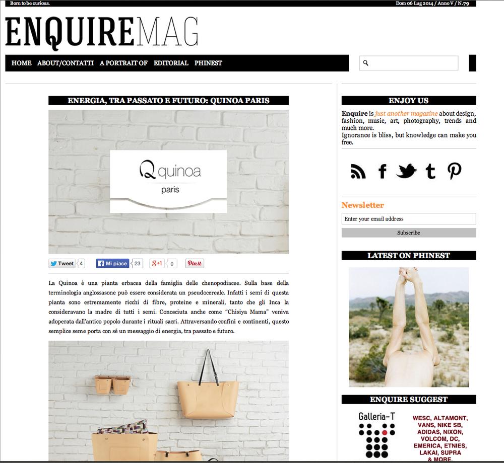 Enquire Mag 07.14