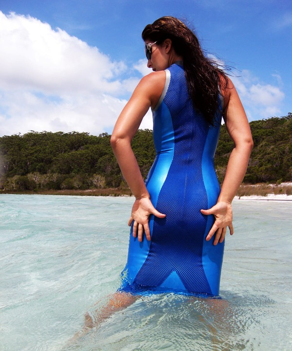Swimming in Latex at Fraser Island, Australia