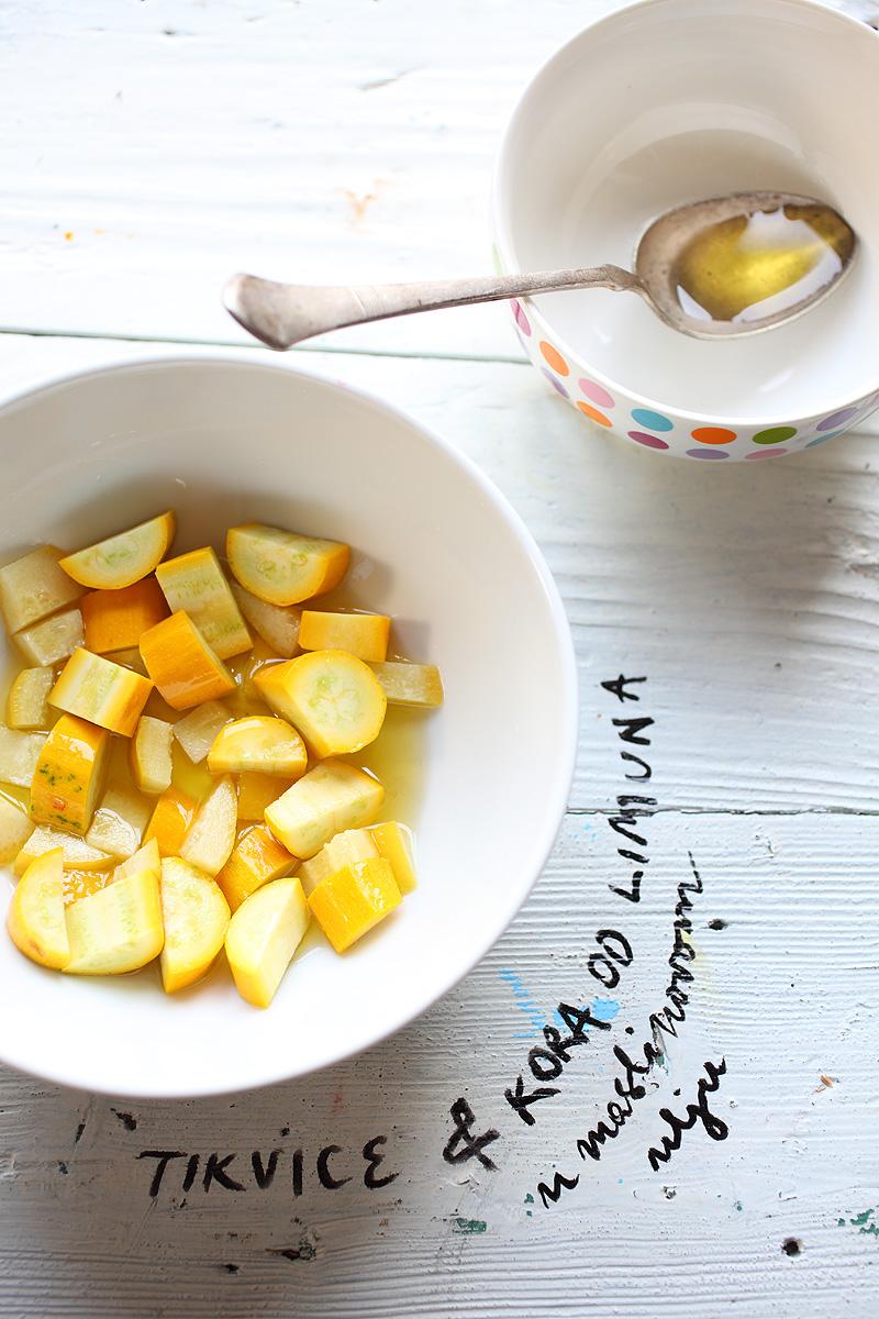 Maslinovo ulje, limun, tikvice / Olive oil, lemon, zucchinis