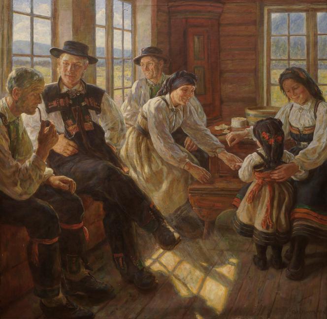 Asor Hansen: Familiebesøg i Sætersdalen , 1908
