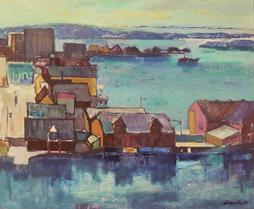 Arne Rødeseike:  Havnen , 1959