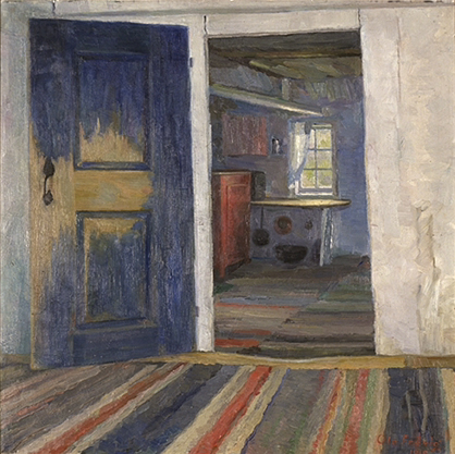 Ole Frøvig:  Kjøkkeninteriør , 1918