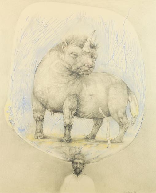 Carl Oscar Schelbred:  Tenkeren  (dyr), 1986