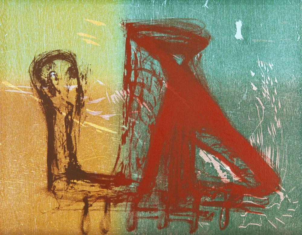 Peter Brandes (DK):  Uten tittel , 2000, fargetresnitt