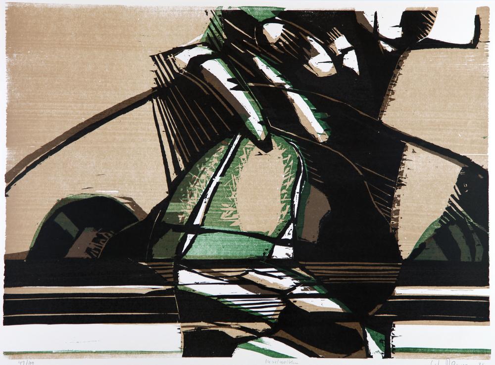 Carl-Heinz Kliemann(D):  Inselwolken , 1974, fargetresnitt, 570 X 800 m.m.