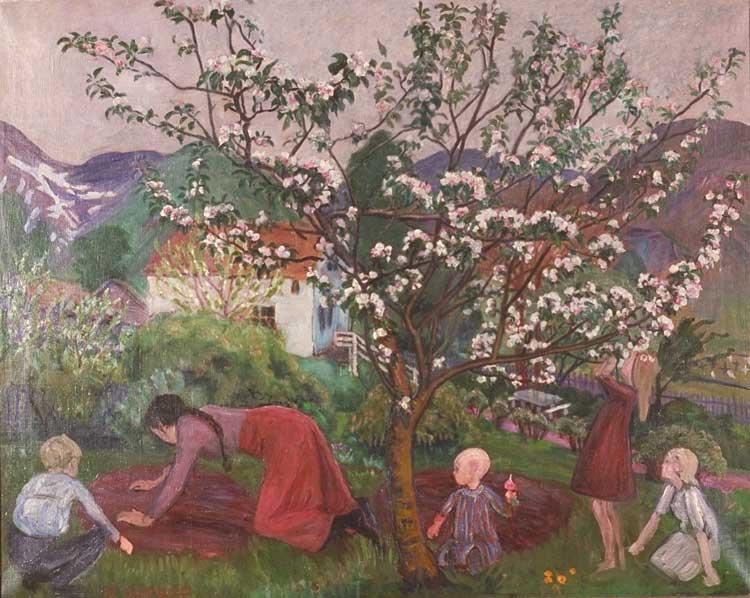"""""""I hagen"""", ant. 1908-1914, av Nikolai Astrup (1880-1928)"""