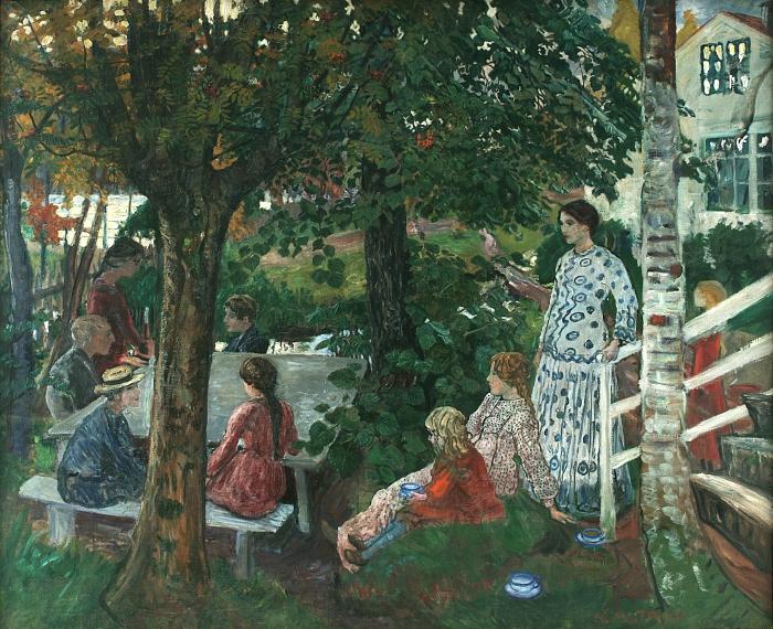 Fødselsdag i hagen  (1911-1927)parebankstiftelsen DNB / KODE