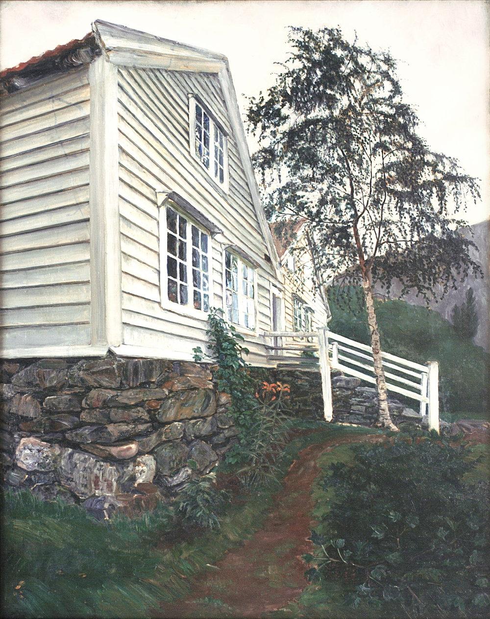 """""""Prestegården"""" (1889-1906). Eier: KODE - Kunstmuseene i Bergen"""