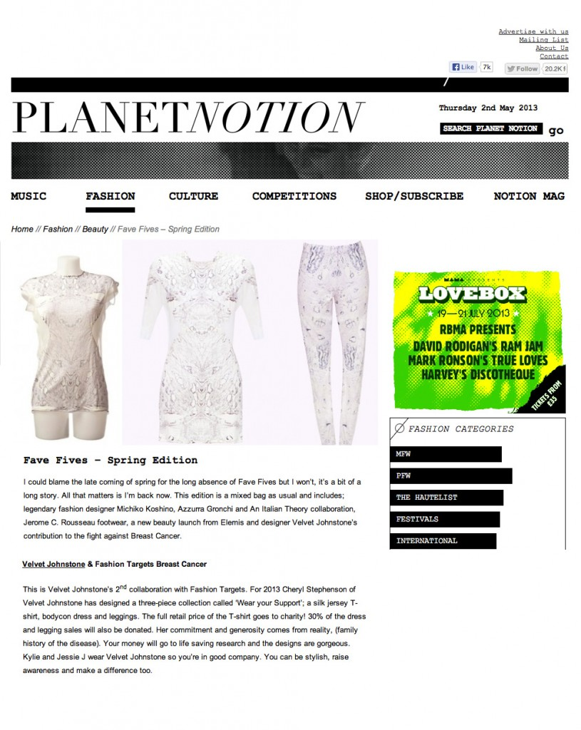 planet notion five faves spring edition
